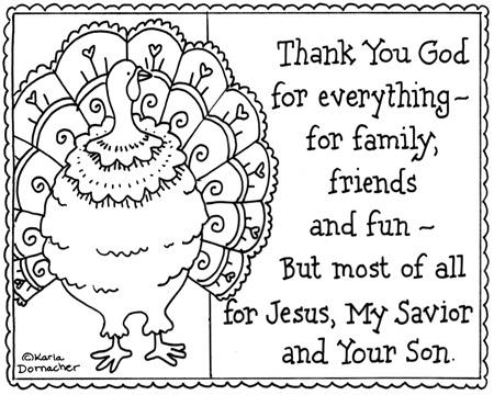 Free Coloring Pages Thanksgiving Turkey