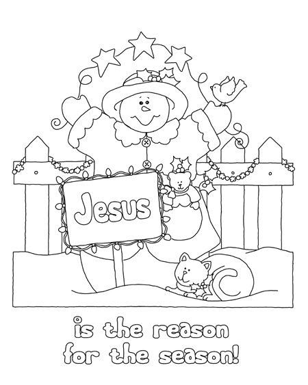 Jesus Sign with Snowman