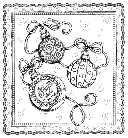 Ornaments Color Page