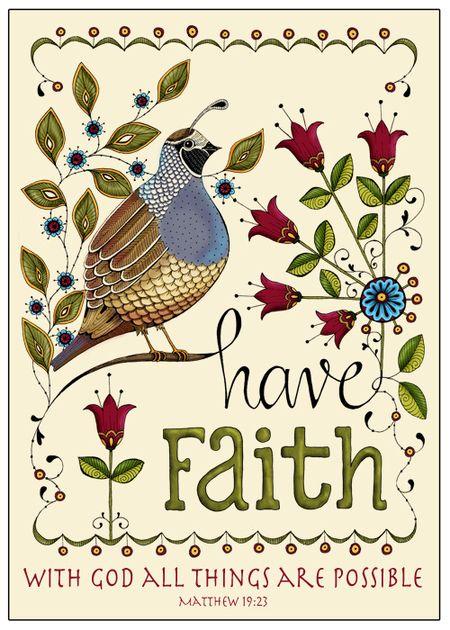 Have Faith Plak