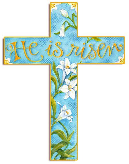 Cross He Is Risen Blue