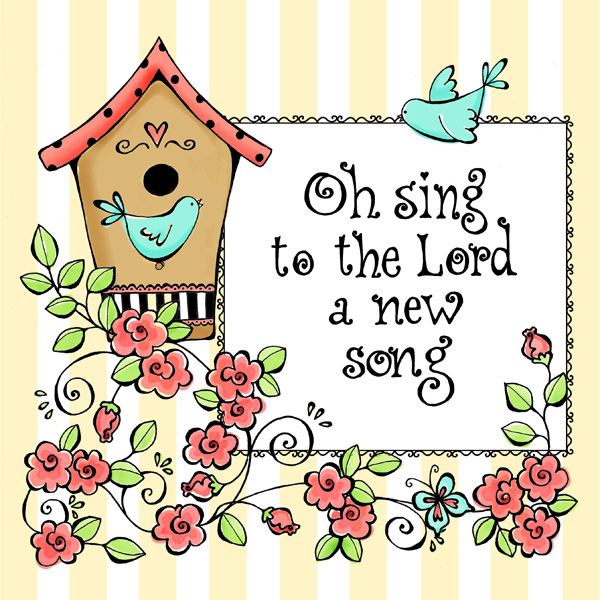 free oh sing coloring page karlas korner - Psalm 98 Coloring Page