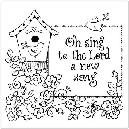 Oh Sing Coloring Page