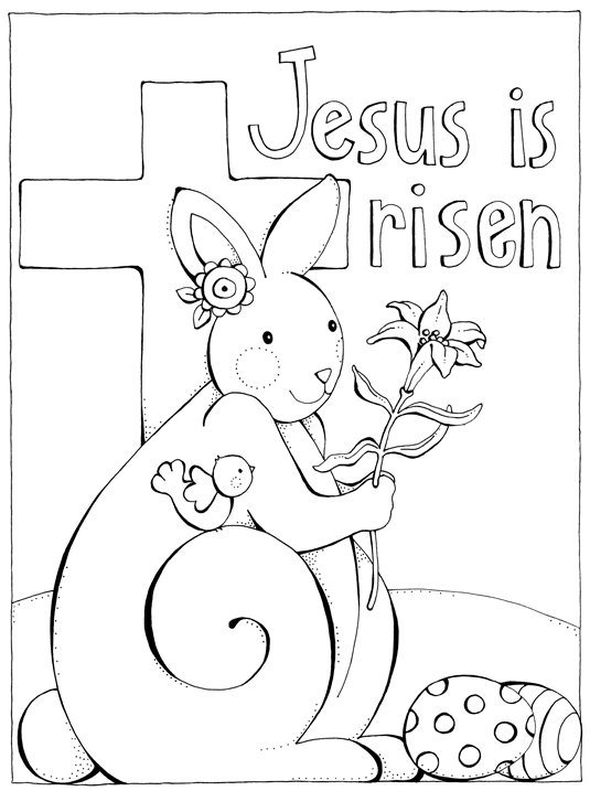 - Religious Easter Coloring Pages For Children Free Printable -