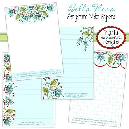 Bella Flora Note Papers Etsy 04