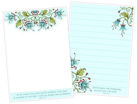Bella Flora Note Papers 02