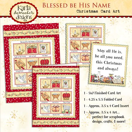 KD024 Blessed Be His Name Card Art