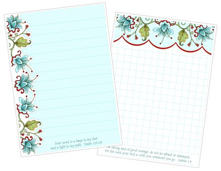 Bella Flora Note Papers 01