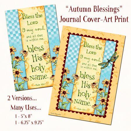 Autumn Blessings Journal Cover