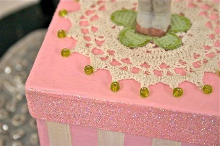 Pink and White Box Top
