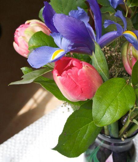 Tulip iris bouquet