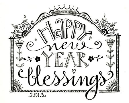 Happy New Year Coloring Pg Blog