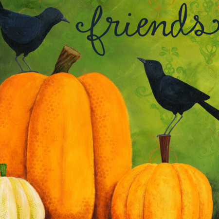 Pumpkins and Crows Flag