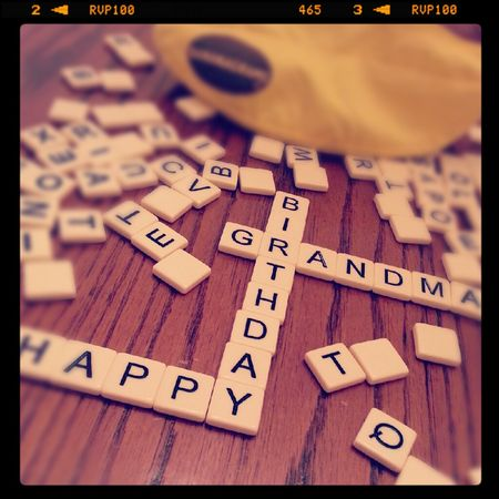Birthday Bananagrams