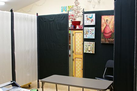 Booth fits in studio space