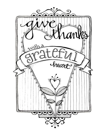 Give Thanks Coloring Page Karla S Korner