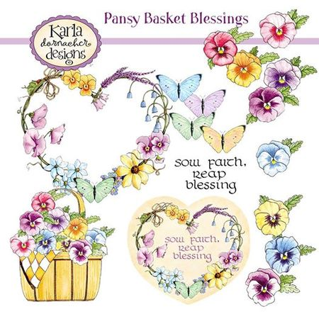 Pansy Basket Blessings