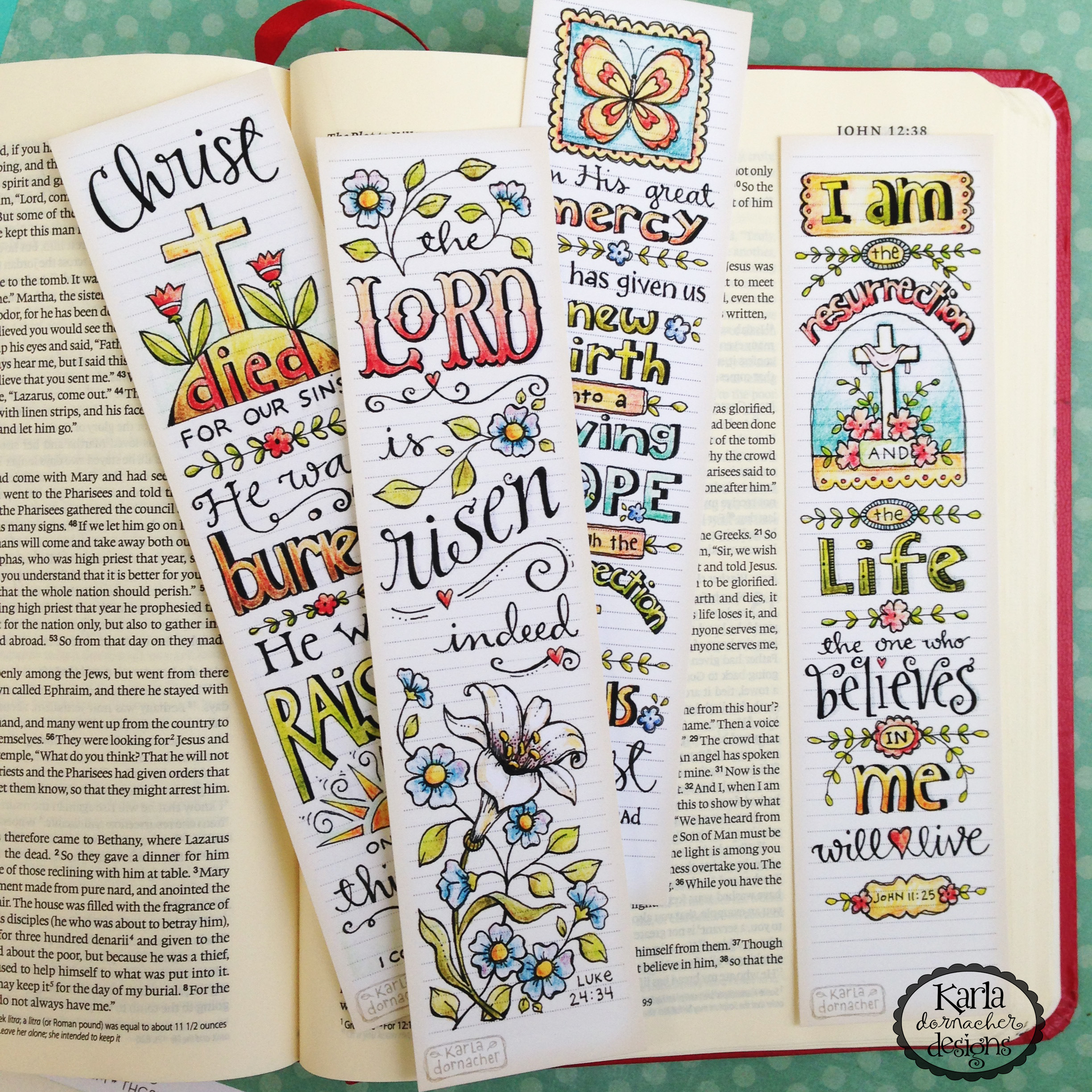 picture relating to Who I Am in Christ Printable Bookmark called 4 Easter Verses for Bible Journaling and Fresh Bookmarks