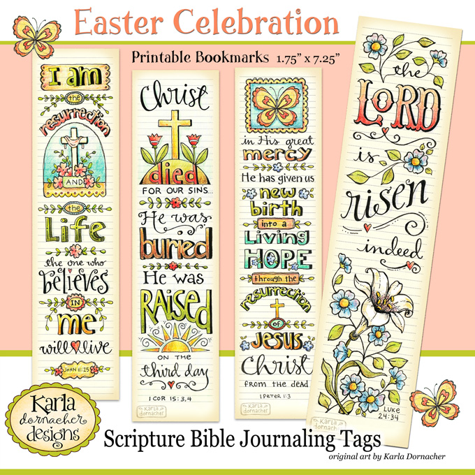 Four easter verses for bible journaling and new bookmarks 01 easter bookmarks etsy negle Choice Image