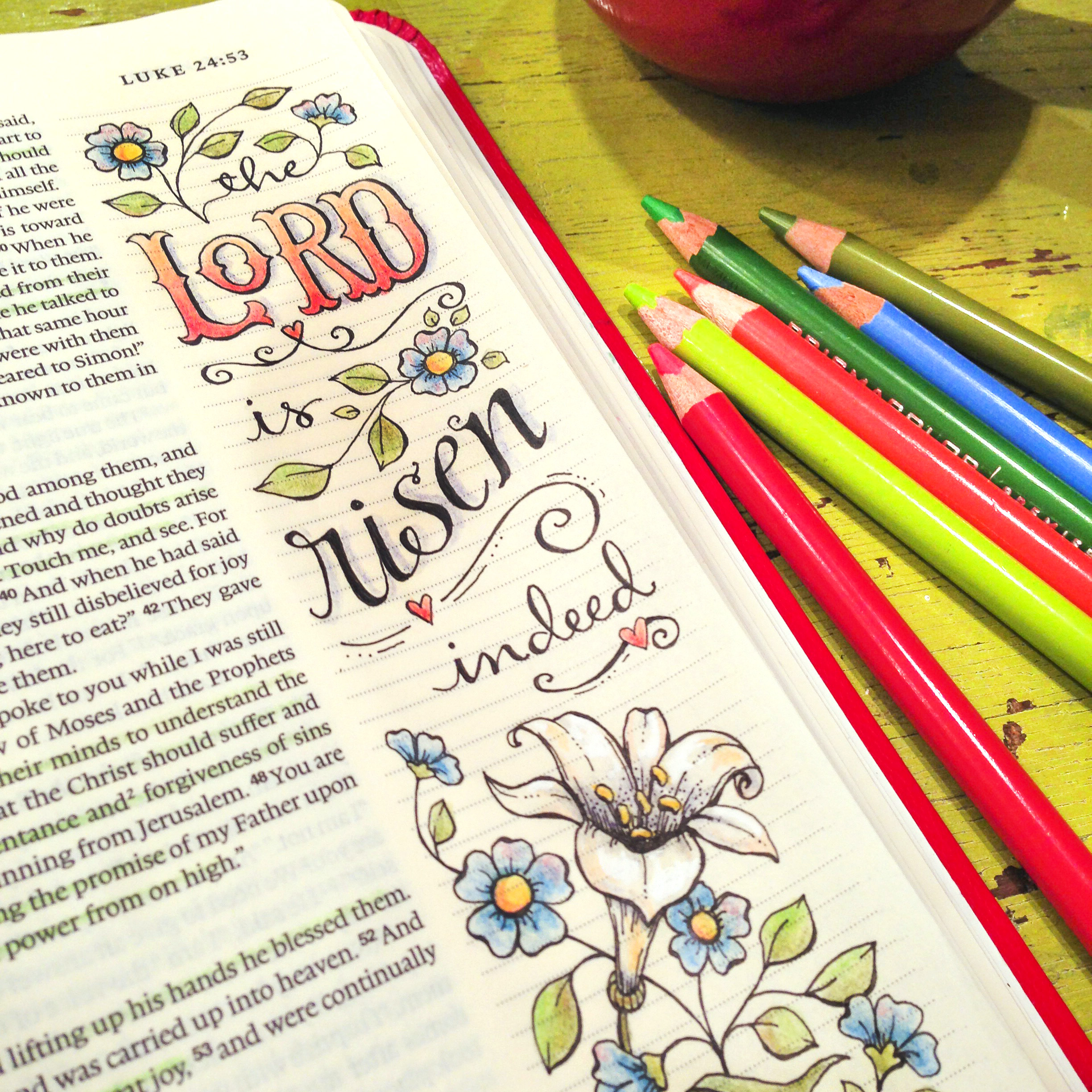 Four Easter Verses For Bible Journaling And New Bookmarks