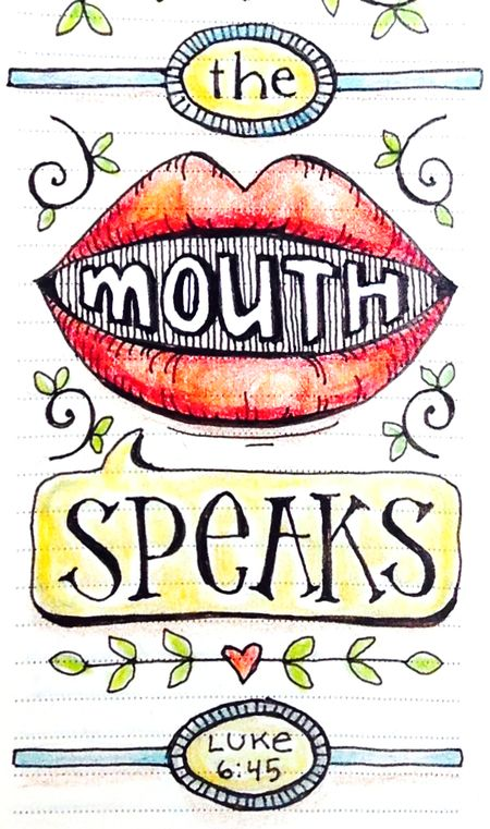 The mouth speaks mouth