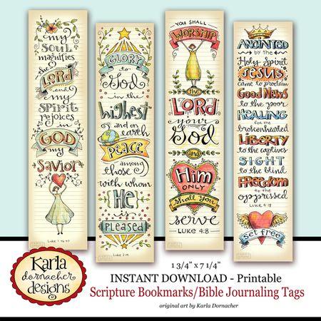 Luke 1-4 Bookmarks in Color Etsy