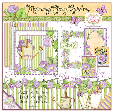 Morning Glory Garden Clip Art Collection as APRIL'S CONTEST GIVEAWAY.