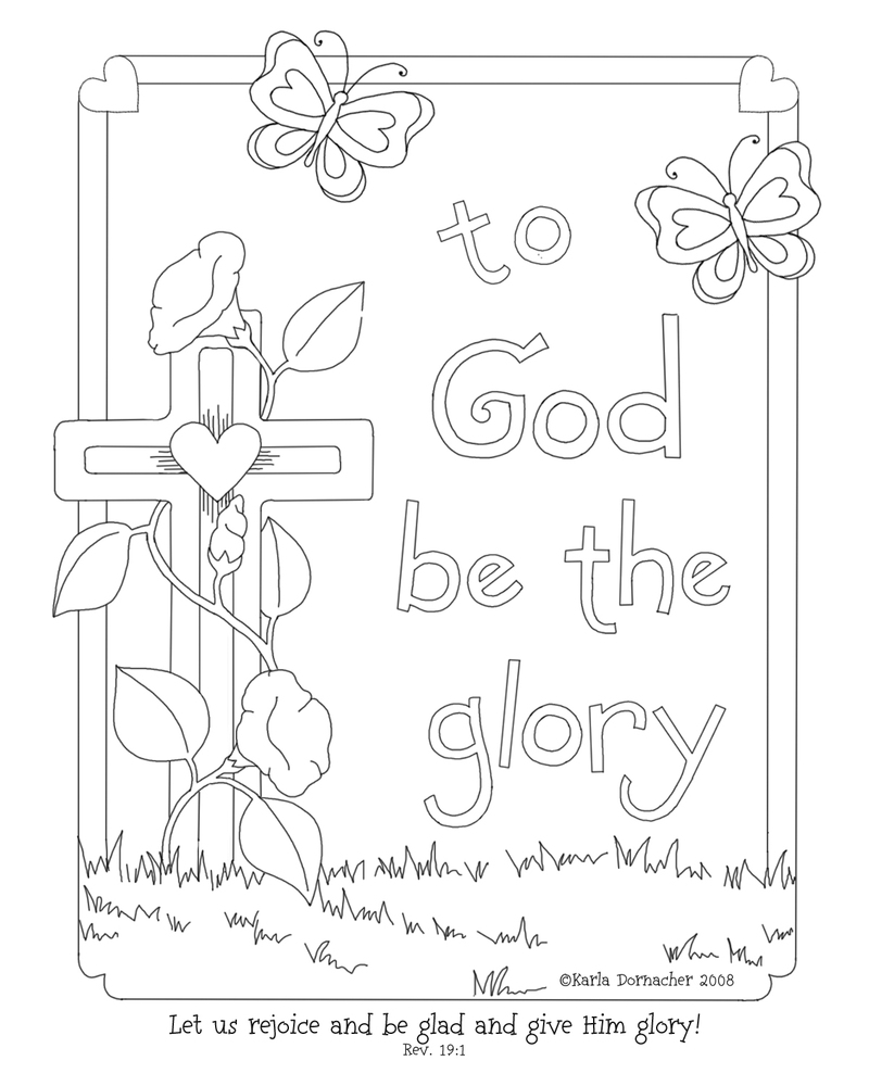 gods children coloring pages - photo#6